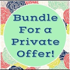 Bundle for special pricing and reduced shipping